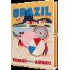 Brazil book clutch by Olympia Le-Tan - Carteras tipo sobre -
