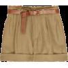High-waisted linen shorts - Shorts -