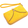 Bright Yellow Zip Decorated Evening Zip- - Сумочки -