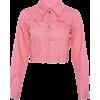 Bright button lapels short denim jacket - Jacket - coats - $32.99