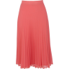 Bright coral pleated skirt - Röcke -