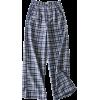 British plaid wide-leg pants - Jeans - $23.99