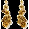 Bronze Flower Earrings - Earrings -
