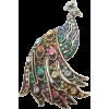 Brooch peacock - Ilustracije -