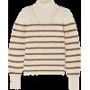 Brown. Beige. Striped. Pullover - Jerseys -