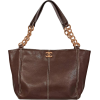 Brown Chanel Leather Wooden-Chain Tote - Hand bag -
