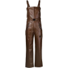 Brown Faux Leather Jumpsuit - Other -