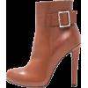 Brown Heel Ankle Boots - Botas -