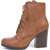 Brown Lace Up Ankle Boots - Stivali -