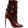 Brown Leather Ankle Boot - Čizme -