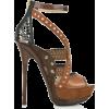 Brown Leather Heel - Sapatos clássicos -