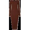 Brown Maxi Sweater Dress - sukienki -