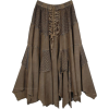 Brown Uneven Hem Skirt - Skirts -