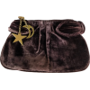 Brown Velvet Clutch Marc by Marc Jacobs - Torbe s kopčom -