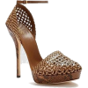 Brown Wicker Heel - Classic shoes & Pumps -