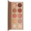 Brown eyeshadow palette. Pink. Yellow - Cosmetica -