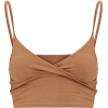 Brown top - Camisas sin mangas -