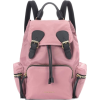 Burberry Backpack Pink Leather Trim - Backpacks - $1,125.00  ~ £855.01