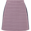 Burberry purple check satin trim mini - Skirts -