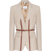 Burberry Leather-trimmed wool blazer - Jacket - coats -