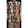 Burberry - Printed silk wool dress - Obleke - $1,415.00  ~ 1,215.32€