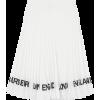 Burberry logo-print pleated skirt - Skirts -