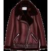 Burgundy biker jacket - Kurtka -