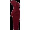 Burgundy One Shoulder Dress - Vestiti -