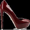 Burgundy Shiny Heel - Classic shoes & Pumps -