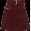 Burgundy. Skirt - Krila -