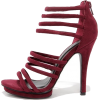 Burgundy Suede Heels - Classic shoes & Pumps -