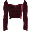 Burgundy Top - Camisas manga larga -