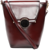 Burgundy Vintage PU leather Shoulder Bag - Hand bag -