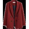 Burgundy - Jacket - coats -