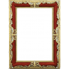 Burgundy and Gold Frame - Frames -