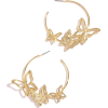 Butterfly Hoop Earrings - Earrings -
