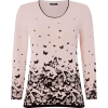 Butterfly print pink jumper - T-shirts -