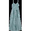 Button Up Striped Cami Dress - Dresses -