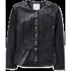 Buttoned leather jacket - Jacket - coats -