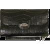 Buxton Stella Croco Framed Strap Clutch Black - Clutch bags - $29.45