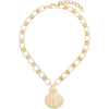 By Alona 18kt gold-plated shell necklace - Necklaces -