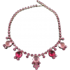 CABOCHON rhinestone necklace - Necklaces -