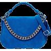 CALVIN KLEIN  Chain-trimmed sue - Mensageiro bolsas - $670.00  ~ 575.45€