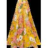 CAROLINA HERRERA Floral-print silk-organ - Capri & Cropped -