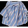 CAROLINA HERRERA blue knotted mini skirt - Skirts -