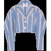 CAROLINA HERRERA blue striped cropped - Jacket - coats -