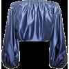 CAROLINE CONSTAS Andros satin off-the-sh - Koszule - długie -