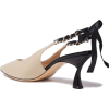 CASADEI Duse chain-trimmed leather sling - 经典鞋 -