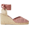 CASTAÑER Crocheted cotton-blend wedge es - Wedges -