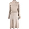 CÉDRIC CHARLIER detachable collar knitte - Dresses -
